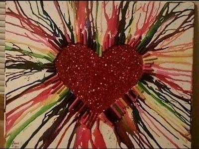Rainbow Heart Glitter Crayon Melt