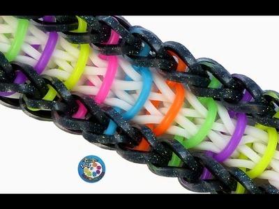 """Rainbow Loom Bracelet """"VICTORIOUS"""" (Original Design) (ref #4n)"""