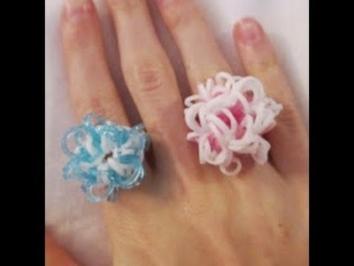 Rainbow Loom- How to Make an Ornate Snowflake Ring (Original Design)