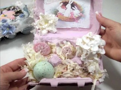 Shabby Chic Easter Egg Boxes & Clip Tutorial