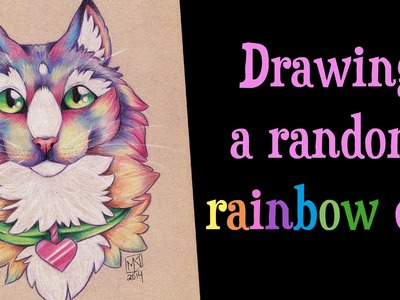 Speed Drawing a random RAINBOW CAT