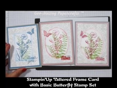Stampin'Up Tattered Frame Card with Butterfly Basics Stamp Set