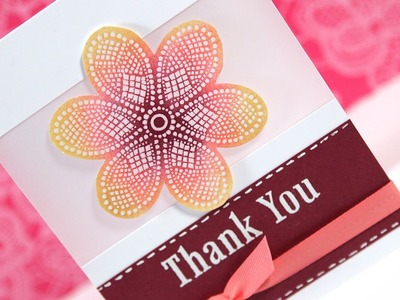 Thanks (Emboss Resist) - Make a Card Monday #158