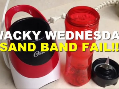 WACKY WEDNESDAY - SAND BAND FAIL FUNNY Rainbow Loom Band Tutorials by Crafty Ladybug.How to DIY