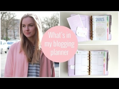 What's in my blogging planner | Kikki K life planner & life is crafted inserts | Axelle Blanpain