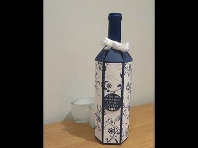 Wine Bottle Gift Box Tutorial - Full size wine bottle bag