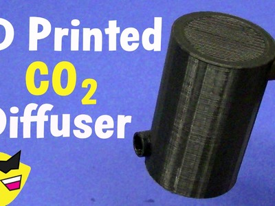 3D Printed Aquarium CO2 Diffuser