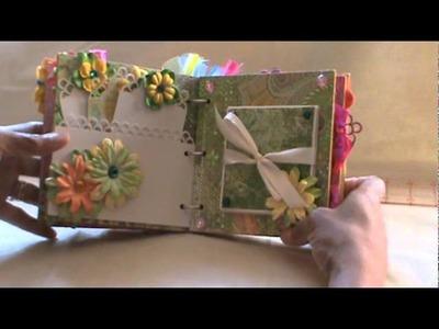 6 x 6 Chipboard Mini Album for Layona-Swap over at Mini Album Scraps