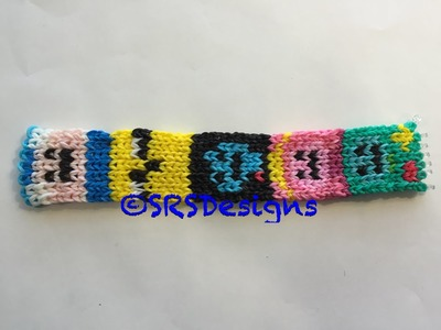 Adventure Time Alpha Loom Bracelet Tutorial.Rainbow Loom Tutorial