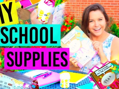 Back To School: DIY School Supplies!!! Tumblr Inspired