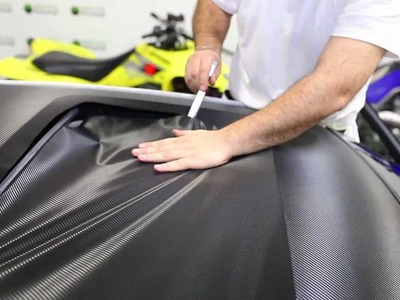 Carbon Fiber Vinyl Roof Wrap installation by metrorestyling.com using 3m 1080 install help video