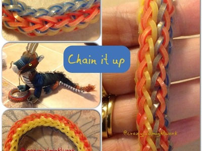 Chain It Up bracelet tutorial (hook only) rainbow loom bands