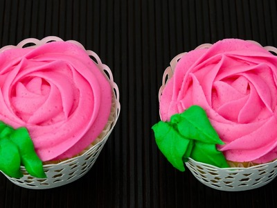 Cupcake Rose Swirl with Buttercream Frosting. Icing by Cookies Cupcakes and Cardio