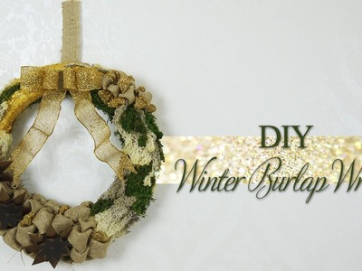 DIY Beautiful Moss & Burlap Wreath {Decorating For Christmas} | Nekkoart