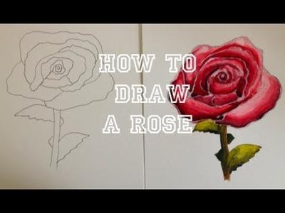 DIY: Drawing A Rose ♡ Theeasydiy #Crafty