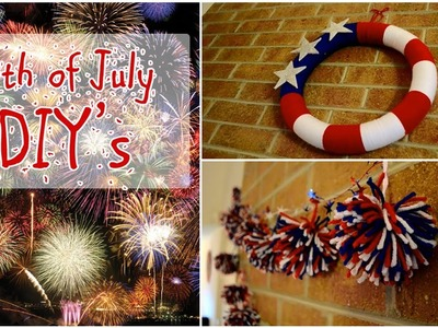 DIY Fourth of July decorations, wreath and firework streamers