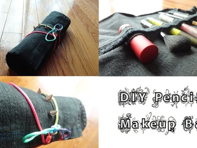 DIY Travel Pencil. Makeup bag. makeup brush holder