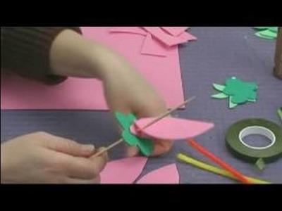 Foam Flower Crafts for Kids : Adding Petals to Flower Kids' Craft