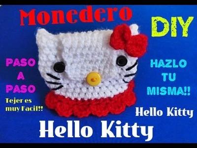 Hello Kitty - Monedero !!! téjelo tú mism@!!