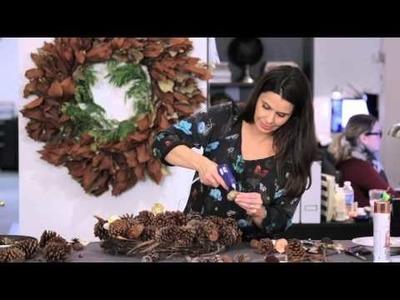 Holiday Decorating — DIY Easy Handmade Holiday Wreath Challenge