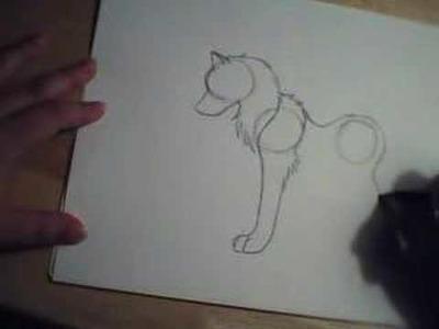 How to draw a wolf nyu! =3
