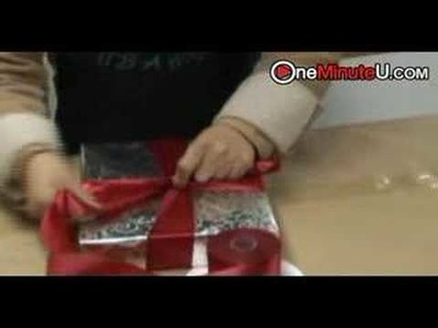 How to gift wrap a present gift with a big bow fathers day