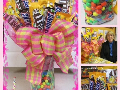 How to Make a Candy Bouquet with M&M's and Snickers: A Touch of Sparkle by Monica Tutorial HD