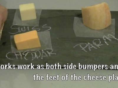 How to make a chalkboard slate cheese plate