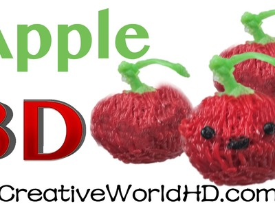 How to Make Apple charm - 3D Printing Pen Creations.Scribbler DIY Tutorial
