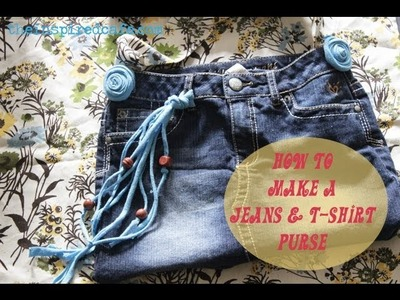 How to Make Cute Unique  Jeans and T-Shirt Bag