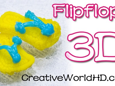 How to Make Flip Flop.Sandle - 3D Printing Pen.Scribbler DIY Tutorial