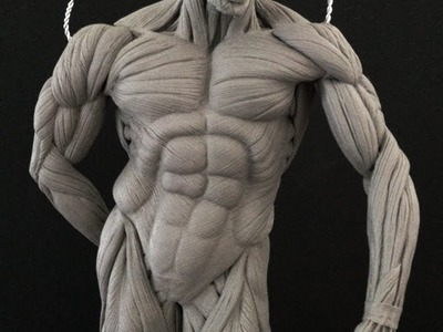 How to Sculpt Ecorche Hercules - Part 72 Left Arm  Complete!!