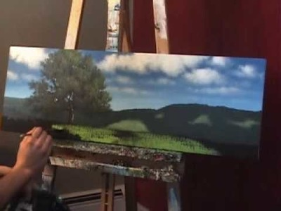 "Landscape Painting ""Tips and Tricks"" by Tim Gagnon - Painting Grass with a Fan Brush"