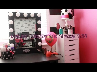 Makeup Collection and Storage 2013 + Vanity Tour! ♡