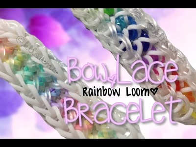 NEW Bow Lace Rainbow Loom Bracelet Tutorial | How To