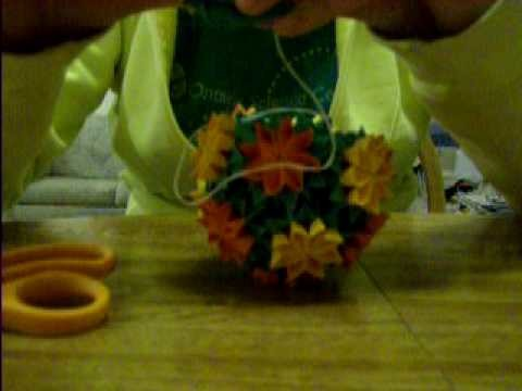 "Origami 4 - ""Bouquet of Primula"" Kusudama (Double Petals) - Part 2 of 2"