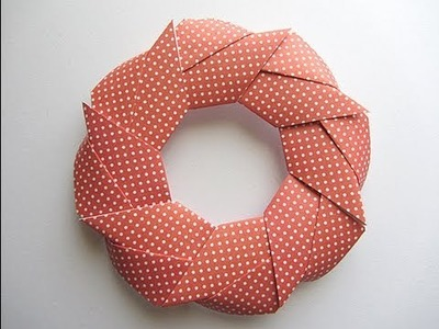 Origami Modular Holiday Wreath