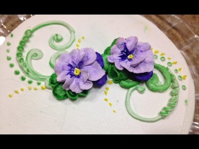 Pansies- How to Make In Butter Cream- Cake Decorating