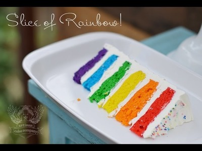 Rainbow Cake Tutorial