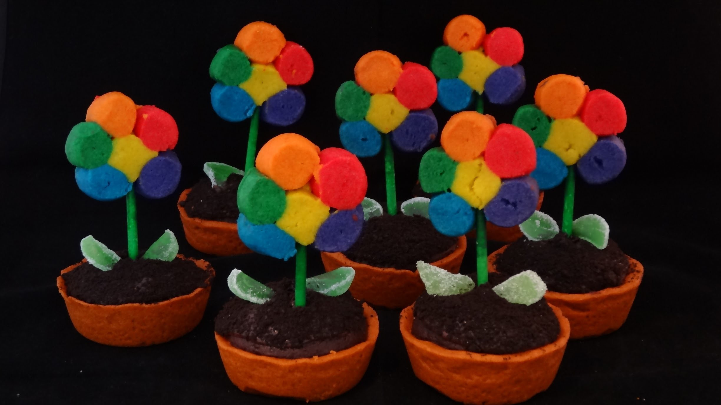 Rainbow Cookie Flowers- with yoyomax12