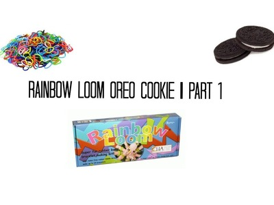 Rainbow loom oreo cookie diy charm part 1