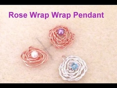 Rose Wire Wrap Pendant