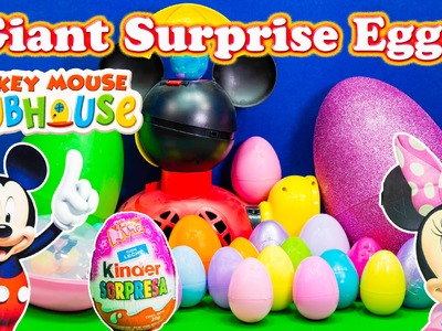SURPRISE EGGS Disney Giant Disney Mickey Mouse Clubhpuse Surprise Eggs a Disney Surprise Egg Video