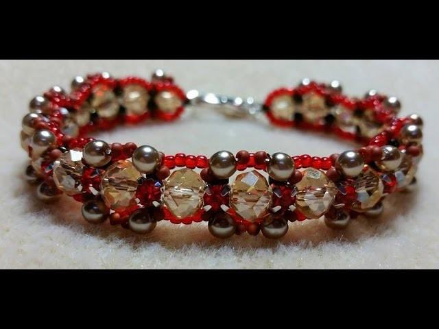 (Tutorial) Autumn Crystal Bracelet DIY (Video 143)