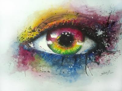 Watercolor Eye - by Jovan Lilić