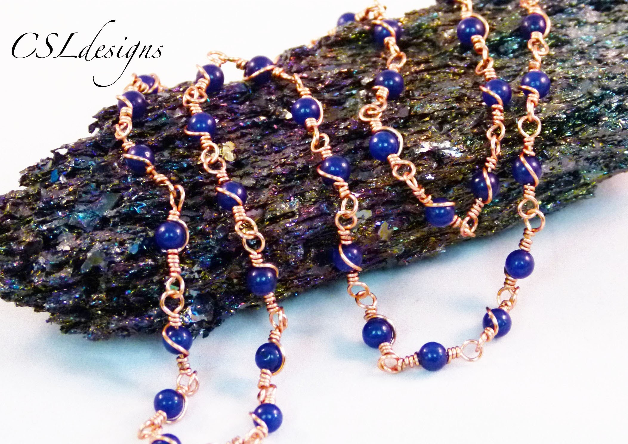 Wire wrapped loop gemstone chain | Make your own chain series