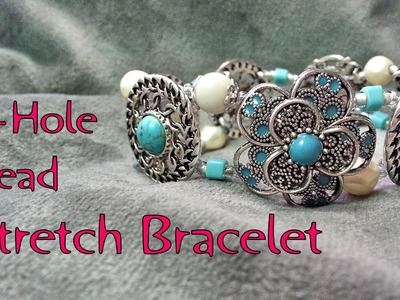 2 Hole Bead Stretch Bracelet Tutorial - Make a Stretch Bracelet Using 2-Hole Beads