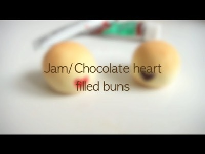 Air dry clay tutorial - Heart shape filled buns