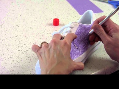 Applying KODAK Shoe Art Film to a Shoe - Example 1