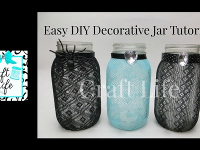 Craft Life ~ Easy DIY Decorative Jar Tutorial ~ Fun Room Decor